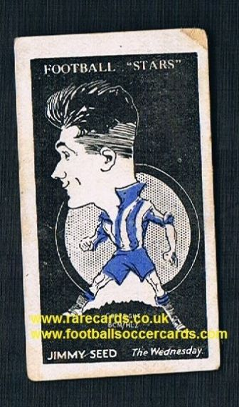 1928 Barratt football card Spurs Jimmy Seed Sheffield Wednesday Sherbet Novelties